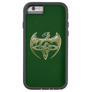 Arte trino de los nudos del Celtic del oro y del Funda De iPhone 6 Tough Xtreme