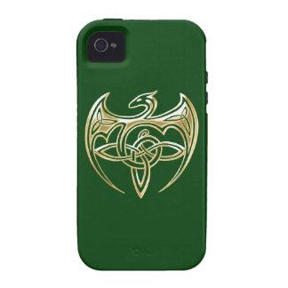 Arte trino de los nudos del Celtic del oro y del iPhone 4 Carcasas