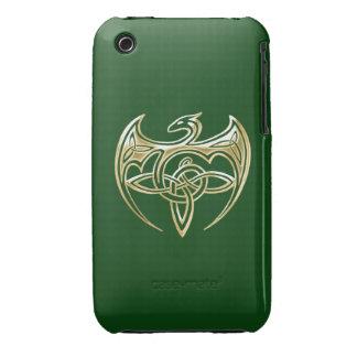 Arte trino de los nudos del Celtic del oro y del iPhone 3 Case-Mate Coberturas