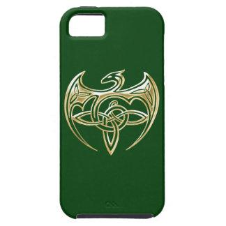Arte trino de los nudos del Celtic del oro y del iPhone 5 Protector