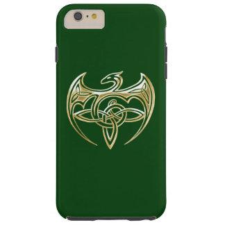 Arte trino de los nudos del Celtic del oro y del Funda De iPhone 6 Plus Tough
