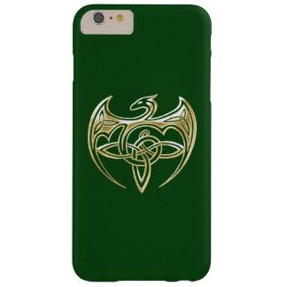 Arte trino de los nudos del Celtic del oro y del Funda De iPhone 6 Plus Barely There
