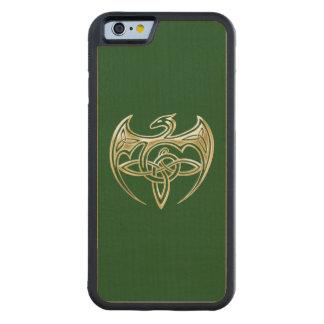 Arte trino de los nudos del Celtic del oro y del Funda De iPhone 6 Bumper Arce