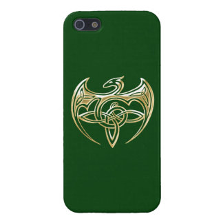 Arte trino de los nudos del Celtic del oro y del iPhone 5 Protectores