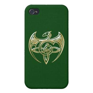 Arte trino de los nudos del Celtic del oro y del iPhone 4 Protector
