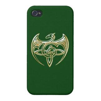 Arte trino de los nudos del Celtic del oro y del iPhone 4/4S Funda