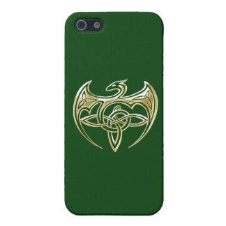 Arte trino de los nudos del Celtic del oro y del iPhone 5 Carcasas