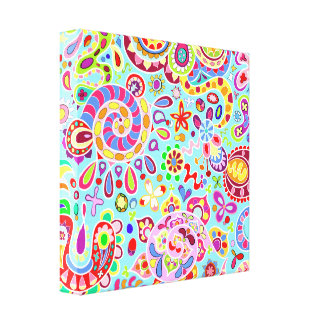Arte Trippy colorido Lona Estirada Galerias