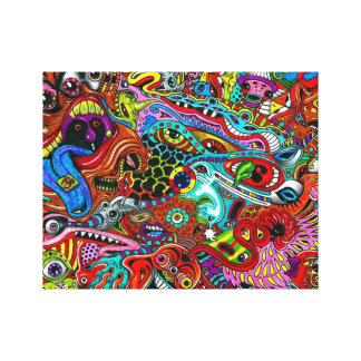 Arte Trippy de la pared Impresión En Lona