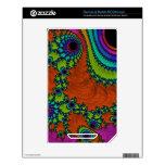 Arte Trippy del fractal Calcomanía Para El NOOK Color