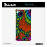 Arte Trippy del fractal Skins Para eliPhone 4S