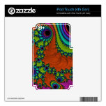 Arte Trippy del fractal Skins Para iPod Touch 4G