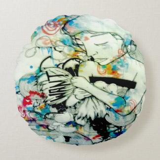 Arte trippy psicodélico del arte surrealista del cojín redondo
