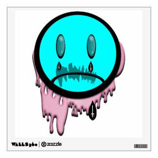 Arte triste de Emoji del gótico en colores pastel Vinilo