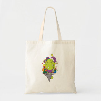 arte triste del monstruo y del dibujo animado del  bolsas
