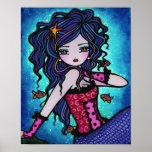 Arte tropical de la fantasía de la sirena de Adria Posters