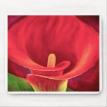 Arte tropical de la flor del lirio rojo de Cala -  Alfombrillas De Raton