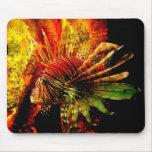Arte tropical de la foto del Lionfish Tapete De Ratón