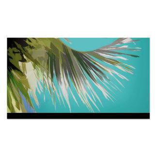 arte tropical de la palmera de la plantilla de la tarjetas de visita