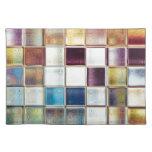 Arte tropical de la teja de mosaico de las manteles individuales