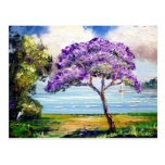 Arte tropical del árbol del Jacaranda Tarjeta Postal