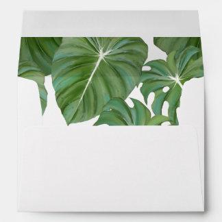 Arte tropical del follaje de la hoja de la selva sobres