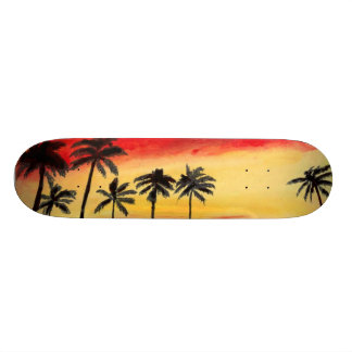 """Arte tropical del monopatín de Sun de las palmeras Patineta 7 1/4"""""""