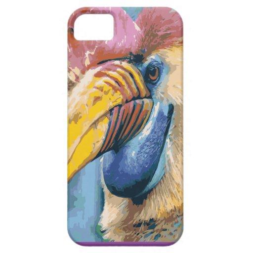 Arte tropical del pájaro del Hornbill colorido enr iPhone 5 Funda