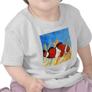 arte tropical del sealife del acuario de los camiseta