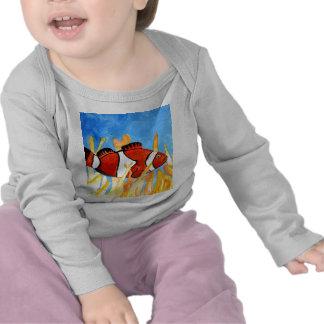 arte tropical del sealife del acuario de los camisetas