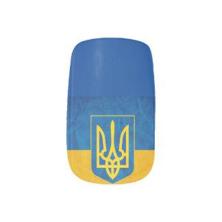 Arte ucraniano del clavo de la bandera pegatina para manicura