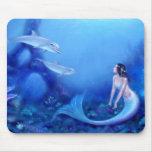 Arte ultramarino Mousepad de la sirena Alfombrilla De Raton