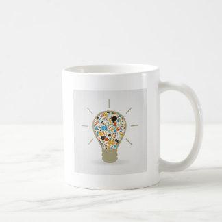 Arte un bulbo taza de café