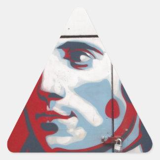 ¡Arte único de la calle de Robert Burns! Pegatina Triangular
