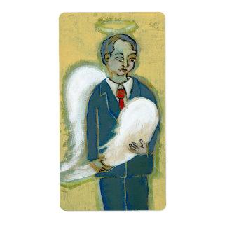 Arte único del ángel del hombre de la humanidad etiqueta de envío