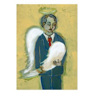 Arte único del ángel del hombre de la humanidad qu plantilla de tarjeta de visita