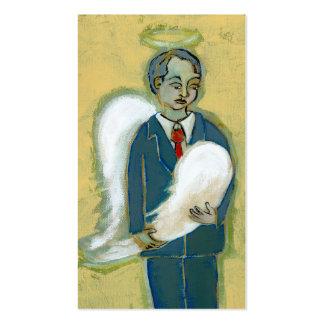 Arte único del ángel del hombre de la humanidad qu tarjeta de negocio