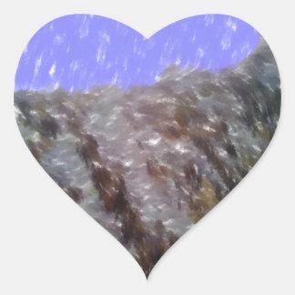 Arte único extraño pegatina en forma de corazón