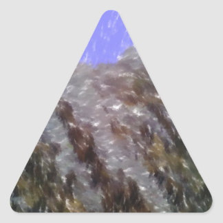 Arte único extraño pegatina triangular