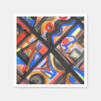 Arte Uno-Abstracto de la calle urbana geométrico Servilletas De Papel