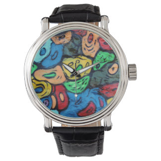 Arte urbano reloj de mano