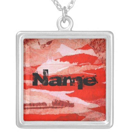 Arte urbano sucio rojo del fondo del collage colgante cuadrado
