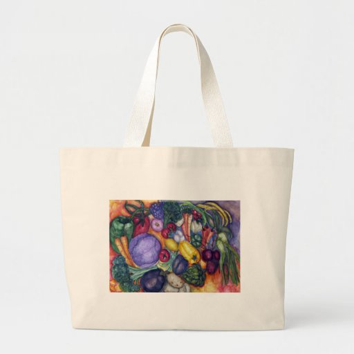 Arte vegetal de la acuarela bolsas