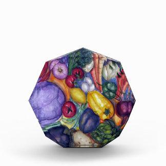 Arte vegetal de la acuarela de las verduras
