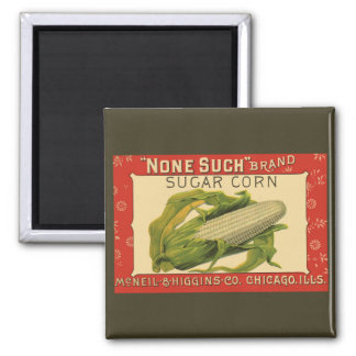 Arte vegetal de la etiqueta del vintage, ninguno iman de nevera