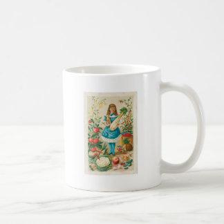 Arte vegetal del anuncio de la comida del vintage taza de café