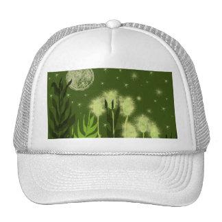 Arte verde de la fantasía de la luna gorra