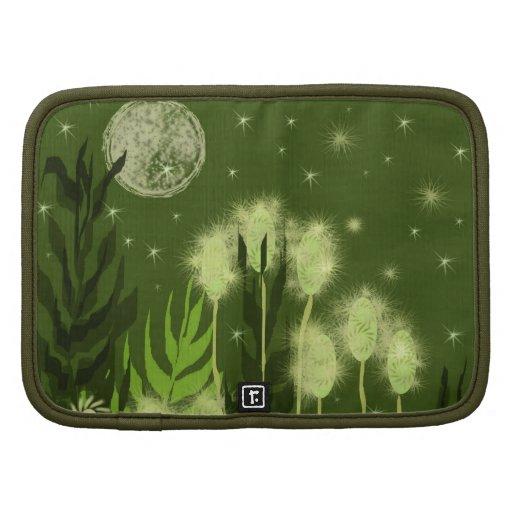 Arte verde de la fantasía de la luna organizadores