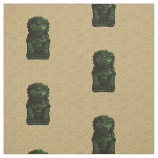 Arte verde del pixel del perro del león telas