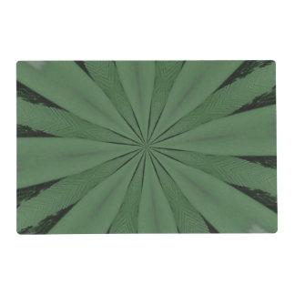 Arte verde extraño salvamanteles